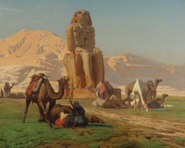 The Colossus of Memnon - Jean-Leon Gerome