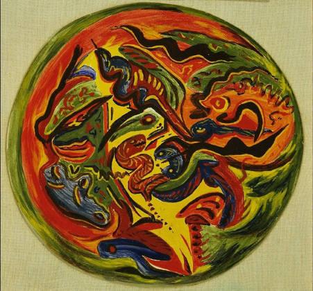 Circle, 1938 - 1941 - Jackson Pollock