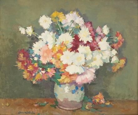 Pipkin with Chrysanthemums - Adam Baltatu