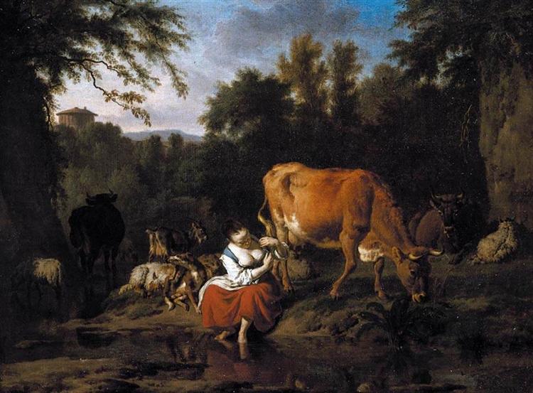 A Classical Landscape, 1671 - Adriaen van de Velde