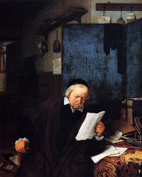 Lawyer in His Study, 1637 - Adriaen van Ostade