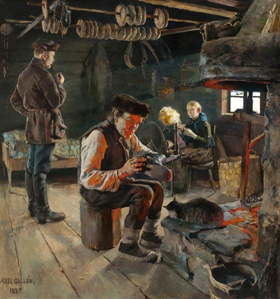 Vie rustique, 1887 - Akseli Gallen-Kallela