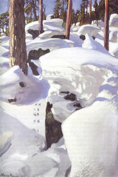 The Lair of the Lynx, 1906 - Akseli Gallen-Kallela