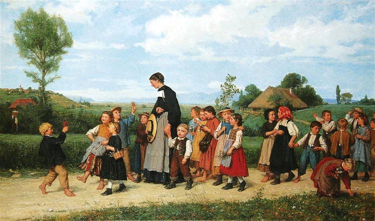 Der Schulspaziergang, 1872 - Альберт Анкер