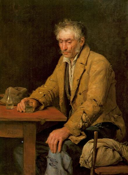 Der Trinker, 1868 - Albert Anker