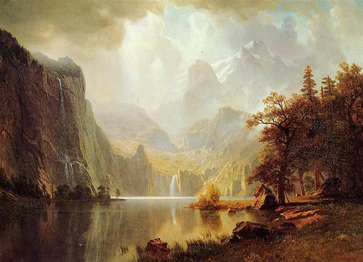 In the Mountains, 1867 - Albert Bierstadt
