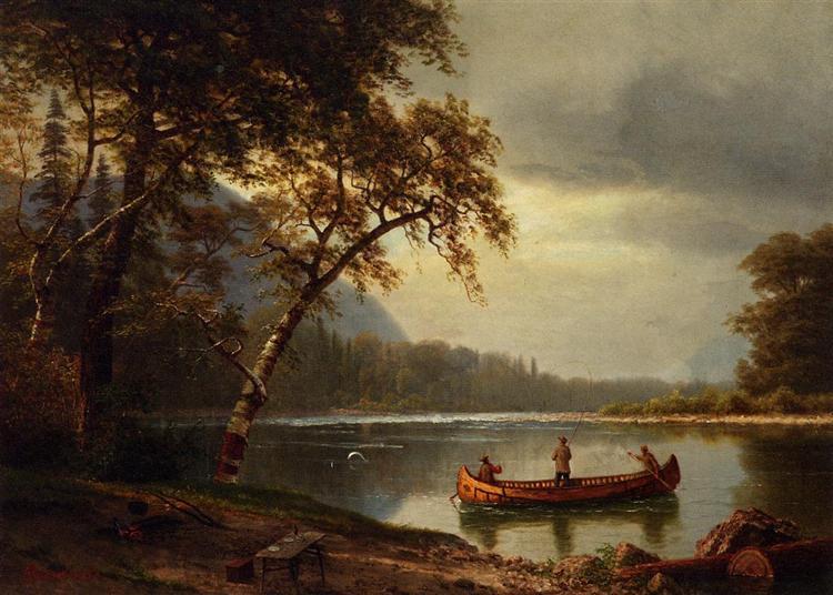Salmon Fishing on the Cascapediac River - Albert Bierstadt