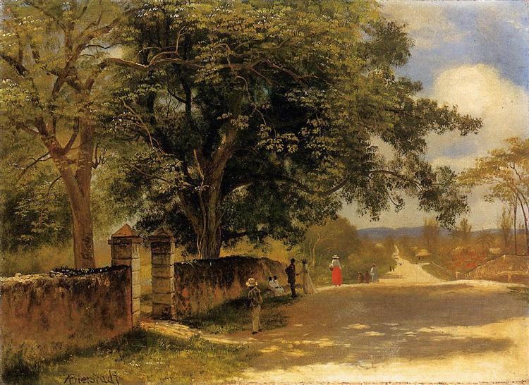 Street in Nassau, 1878 - Albert Bierstadt