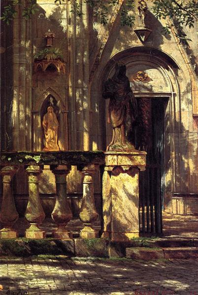 Sunlight and Shadow Study, 1855 - Альберт Бірштадт