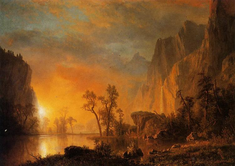 Sunset in the Rockies - Albert Bierstadt