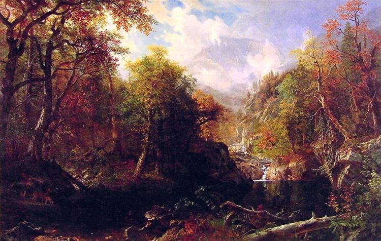 The Emerald Pool, 1870 - Albert Bierstadt