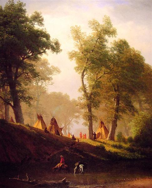 The Wolf River, Kansas, c.1859 - Albert Bierstadt