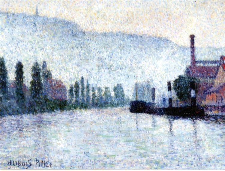Rouen, La Seine et les Collines à Canteleu, 1887 - Albert Dubois-Pillet