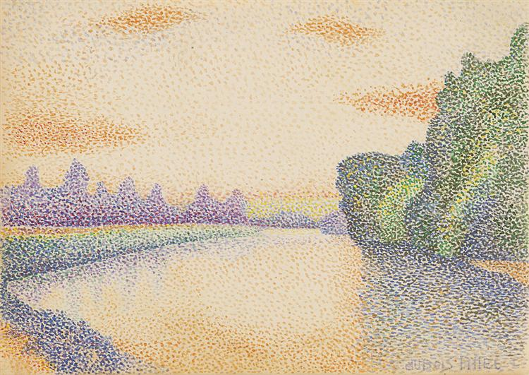 The Banks of the Marne at Dawn, 1888 - Albert Dubois-Pillet