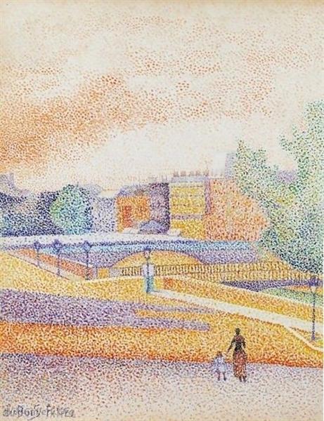 Vue de Paris, 1885 - Albert Dubois-Pillet