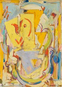 Arabesque brush or Cubist Composition - Альбер Глез