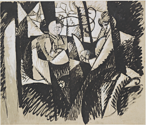 Two Women Seated by a Window, 1914 - 阿尔伯特·格列兹