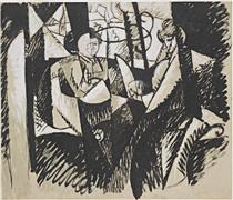 Two Women Seated by a Window - Альбер Глез