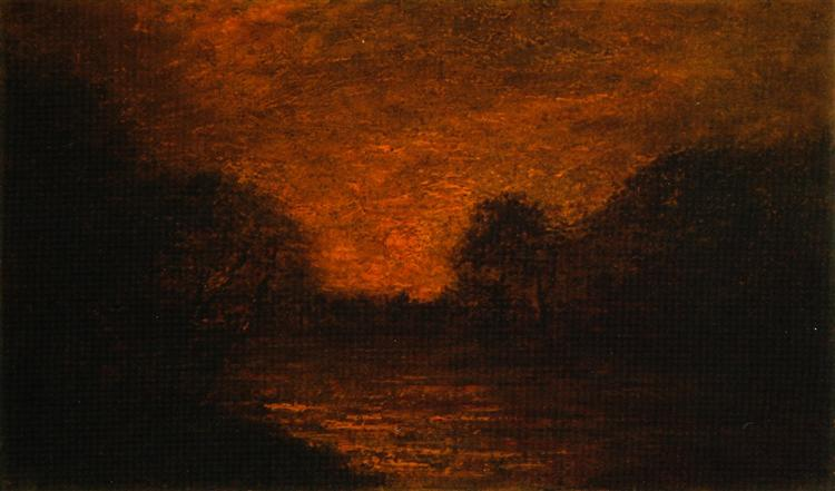 Pond in Moonlight - Albert Pinkham Ryder