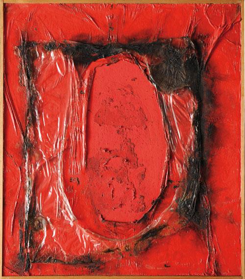 Red Plastic, 1961 - Alberto Burri
