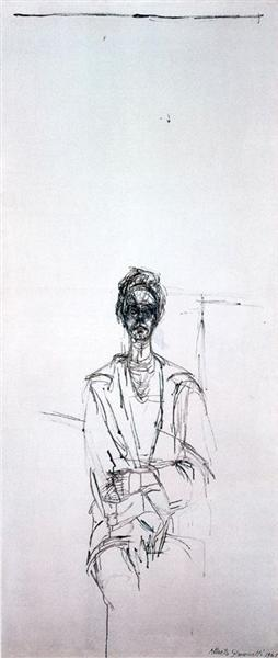 Carolina on white background, 1961 - Alberto Giacometti