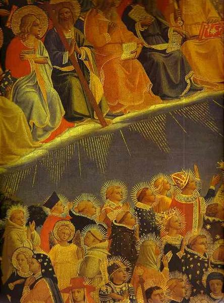 The Last Judgement. Detail: The Blessed, c.1431 - Fra Angelico