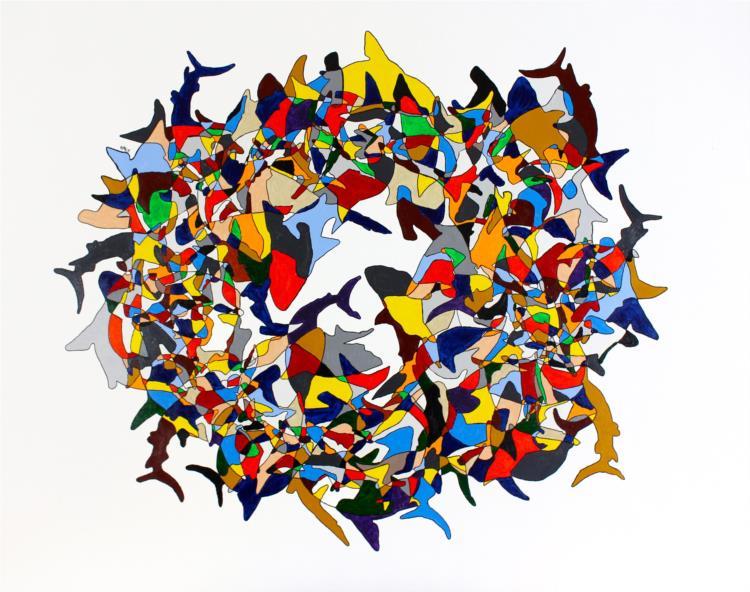 Circling Sharks 1, 2014 - 阿尔布雷希特·贝姆