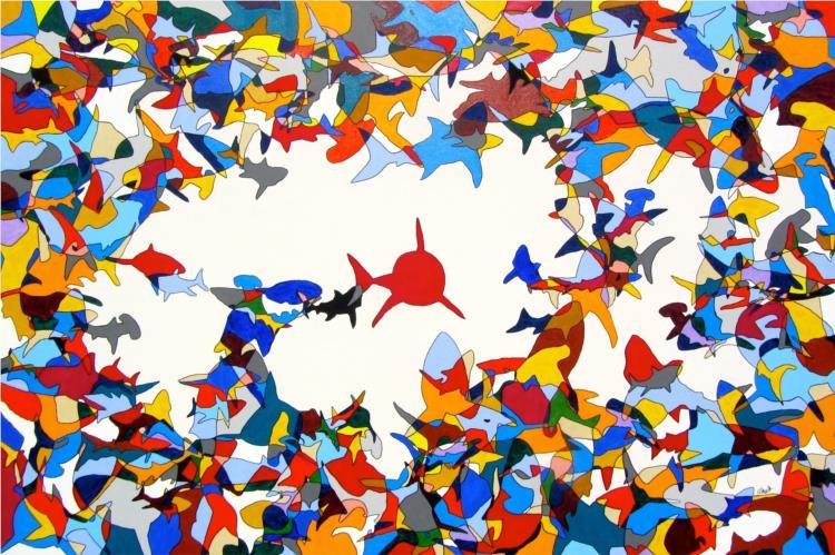 Circling Sharks, 2015 - Albrecht Behmel