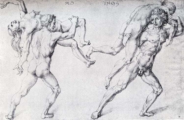 Abduction Of A Woman (Rape Of The Sabine Women), 1495 - Albrecht Durer