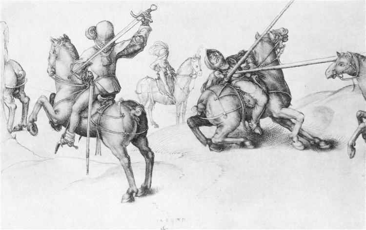 Fencing Reiter, 1489 - Albrecht Durer