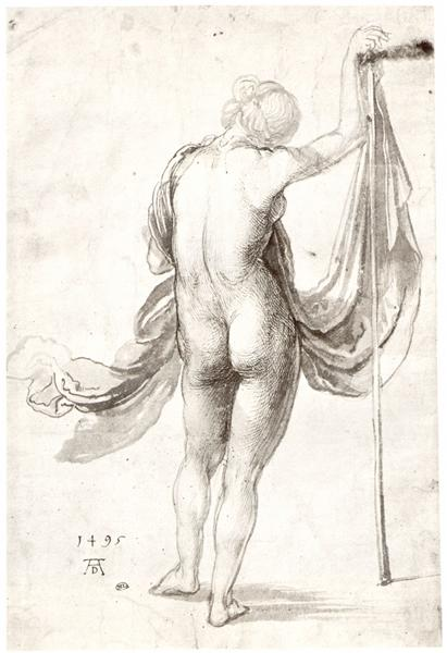 Nude Study (Nude Female from the Back), 1495 - Albrecht Durer