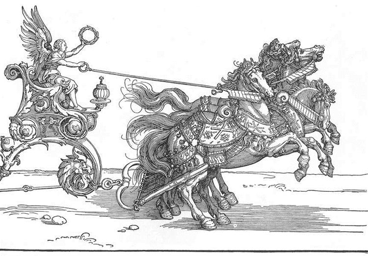 The Small Triumphal Car or the Burgundian Marriage - Albrecht Durer