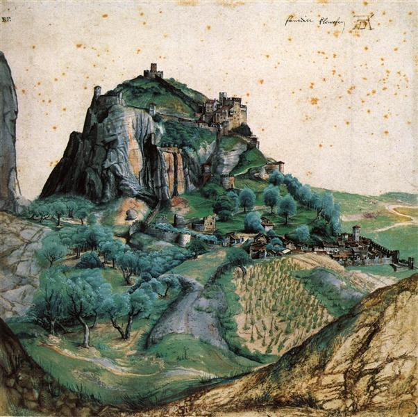 View of the Arco Valley in the Tyrol, 1495 - Albrecht Durer