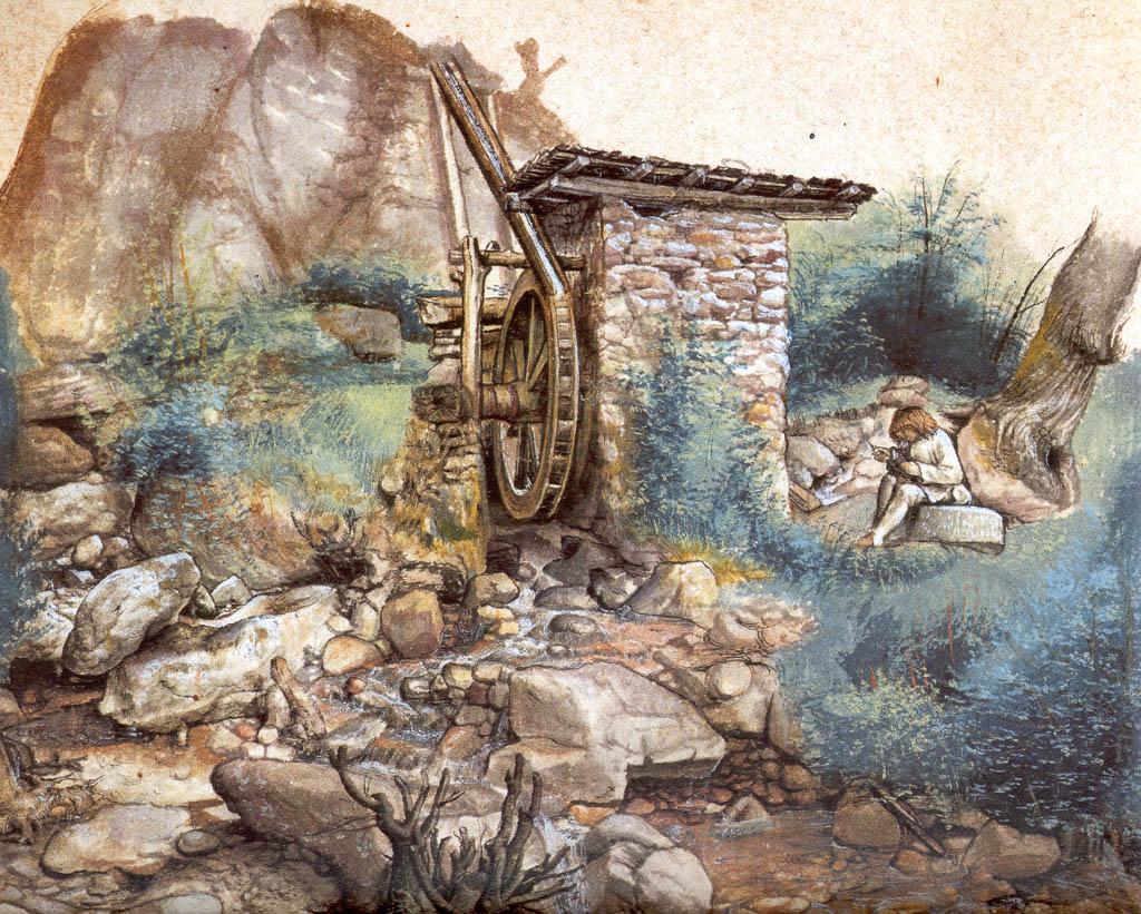 Watermill at the montaсa - Albrecht Durer