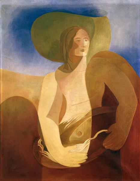 Mujer con los pescados - Ekster Aleksandra