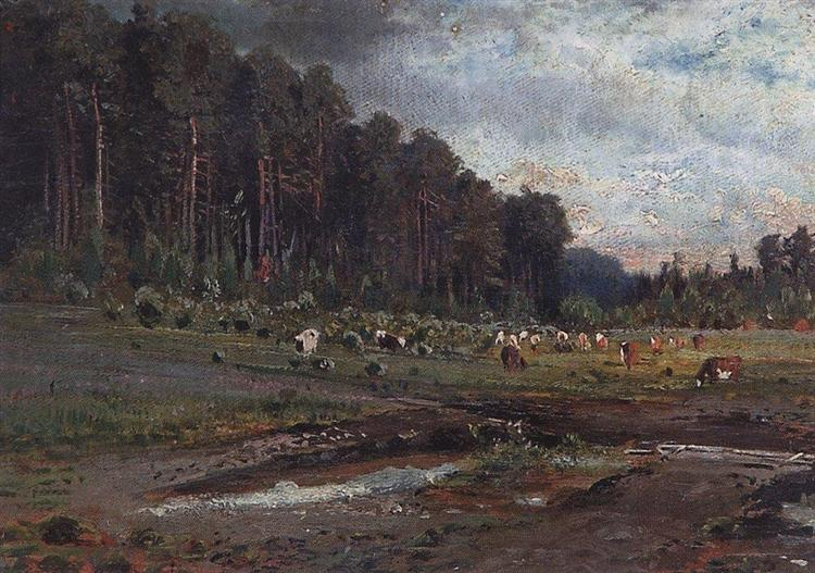 Elk Island in Sokolniki, 1869 - Alexei Kondratjewitsch Sawrassow