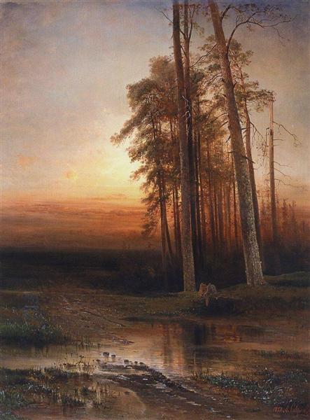 Evening, 1877 - Alexei Kondratjewitsch Sawrassow