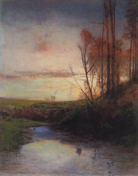 Вечер, 1880 - Алексей Саврасов