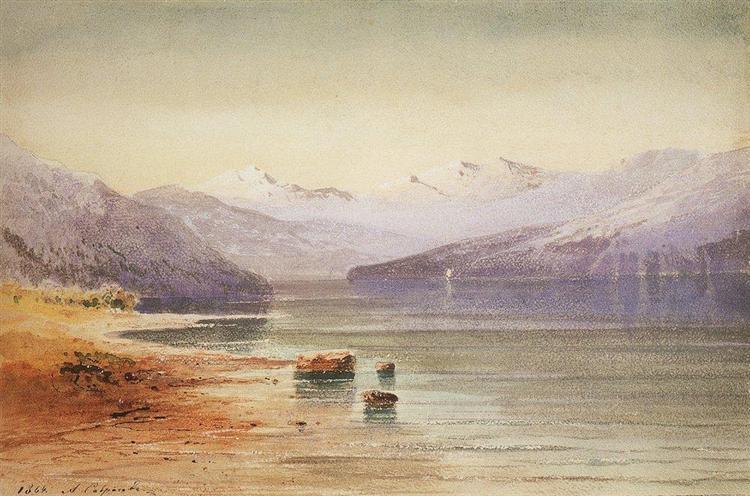 Mountain Lake.Switzerland, 1864 - Aleksey Savrasov