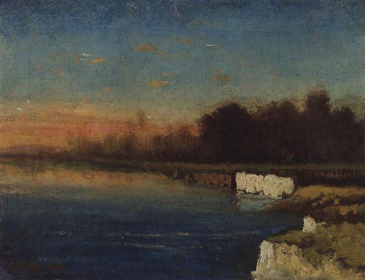 Riverbank of Velunia, c.1870 - Aleksey Savrasov