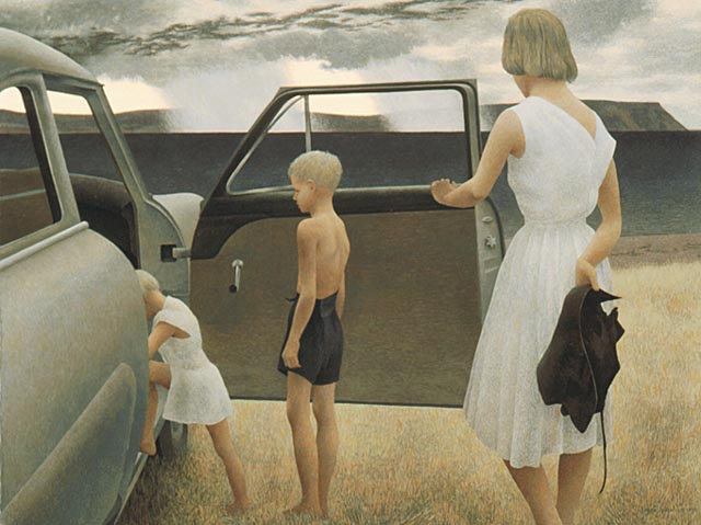 Family and Rainstorm, 1955 - Alex Colville