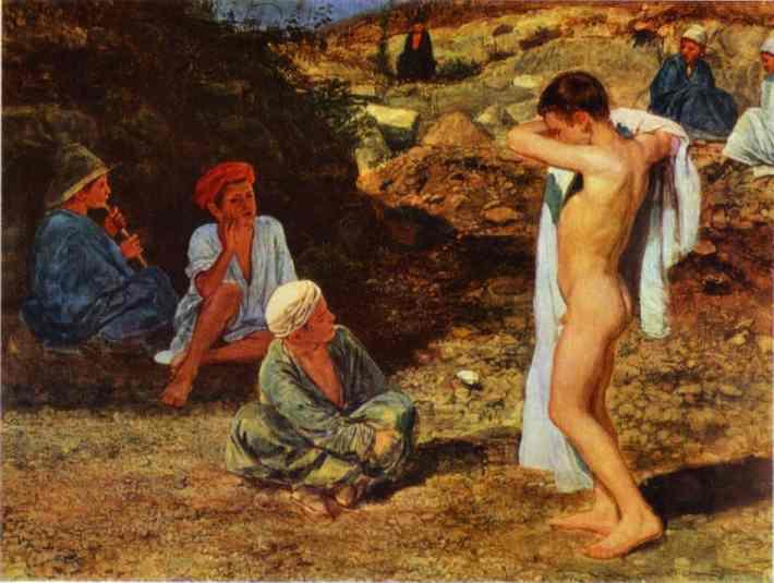 Seven Boys in Colourful Clothes, c.1845 - Alexander Ivanov