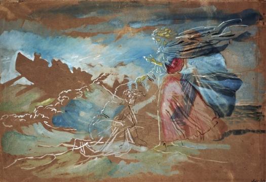 Walking on Water (Christ saves Peter began to sink), 1855