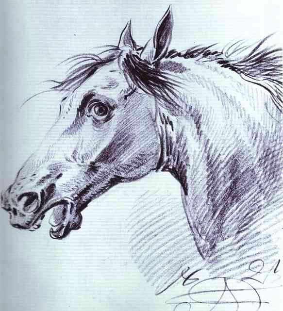 Head of a Horse, 1821
