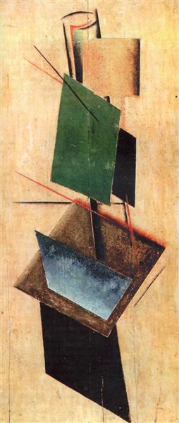 Objectless composition, 1918 - Alexander Michailowitsch Rodtschenko