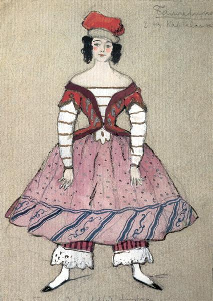 Ballerina. Costume design for Tamara Karsavina, 1911 - Alexandre Benois