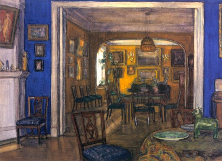 Interieur, 1900 - Alexandre Benois