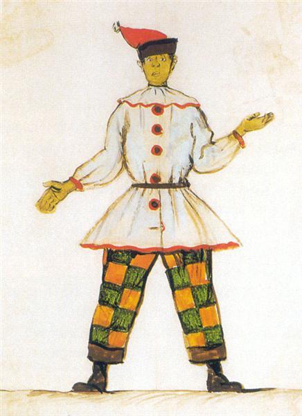 Petrushka. Costume design for Vatslav Nijinsky, 1911 - Alexandre Benois