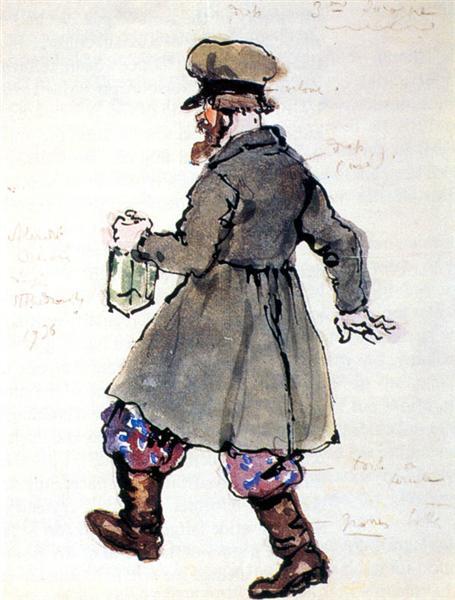 The third drunkard, 1936 - Alexandre Benois