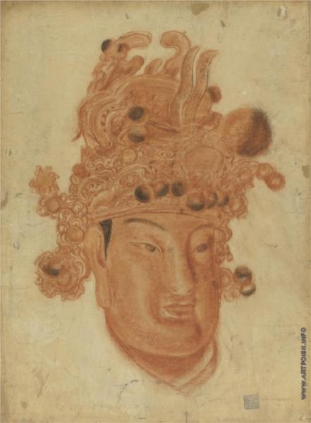 A Chinese God, 1918 - Alexandre Jacovleff